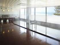 【大浴場】雄大な日本海を一望できる大浴場!