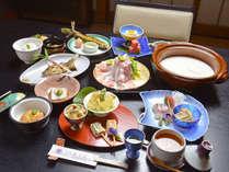 *【夕食全体例/豆乳鍋】ヘルシーなので女性を中心に人気です。