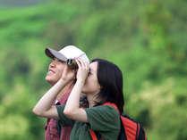 *【カップル(イメー)】仲良しな二人で自然いっぱいの大山にお越しください!