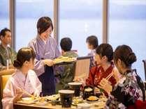 会席料理と食べ放題料理が融合した「磯はなびダイニング」をお楽しみください!