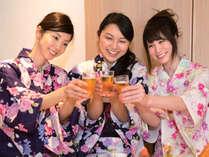 【女子会プラン】期間限定でお一人様9720円から!富山湾の絶景を楽しむ露天風呂とカワイイ色浴衣☆