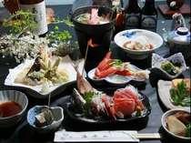 自家製野菜や地魚を作った料理です。