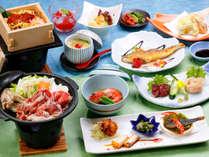 夏のスタミナ料理や信州らしい食材を使った夏季限定の会席料理です。,長野県,高原のお宿 スカイランドきよみず