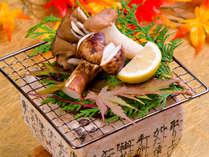 松茸の食感と本来の味を楽しむには断然焼き松茸!ザクっとした歯ごたえがたまりません!,長野県,高原のお宿 スカイランドきよみず
