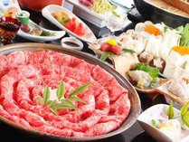 ほど良いやわらかさ、風味あるお肉がたまらない!特選千屋牛のしゃぶしゃぶ会席