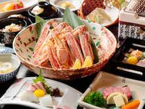 【旬彩会席 冬!】焼きガニと和牛の溶岩石ステーキ会席