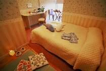 【海側ダブルルーム】プチ畳はちょっとした寛ぎスペース。バストイレ付