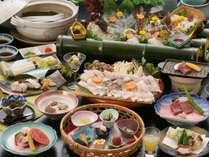 ◆夏得◆温泉とハモしゃぶ・黒毛和牛の鉄板焼き付極み会席プラン 女性限定 エコ箸プレゼント