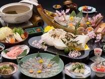 鯛のしゃぶしゃぶ食べ放題と鯛の塩釜焼き和み会席