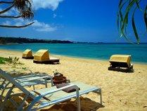 【ビーチ】ホテルから2~3分の宿泊者限定天然ビーチ