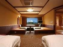 スタンダードルーム(3)富士山側露天風呂付客室 ユニバーサルデザイン(4名様定員)