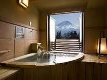 スタンダードルーム(6)富士山側露天風呂付客室 ユニバーサルデザイン(4名様定員)