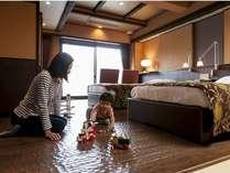 セミコンフォート(2)河口湖眺望露天風呂付客室 ユニバーサルデザイン(3名様定員)