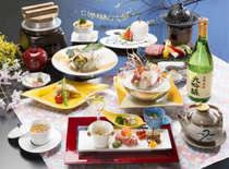 ご夕食は和洋懐石 お料理一例 ※お酒は別途料金です。
