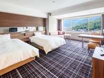 スタンダードツインは緑豊な山々を望めるお部屋もございます。