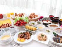 人気の朝食ブッフェ