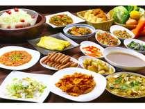 無料朝食~おふくろの味 全景1バイキングスタイルのテーマは「おふくろの味」「地産地消」です!