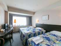 90cm幅ベッドが2台のツインルーム。 ※写真はイメージです。