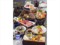 【団欒プランご夕食イメージ】信州の食材もふんだんに採り入れた、会席料理をお愉しみください。