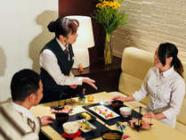 イル・モメントでの和朝食膳は、限定20名だからゆっくりとお召し上がりいただけます。