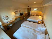 39.4平米スタンダードツインルーム一例 最大4名まで宿泊可能