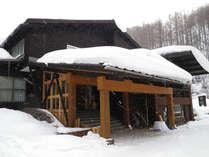 *当館の外観です。冬にはたくさんの雪が積もります。