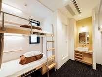 2段ベッド個室(4人用)◆2段ベッドで旅行を楽しく