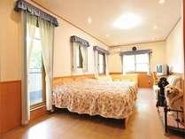 別館ルーム。専用のテラスもあり、ファミリーに人気の広いお部屋。