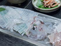 【2食付き】品数に驚き!!かぁちゃんの漁師飯と「男命イカ」のお刺身を召し上がれ♪