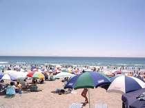 真夏の吉佐美大浜☆海水浴を楽しむ人、サーフィンを楽しむ人エリア分けしてあります。