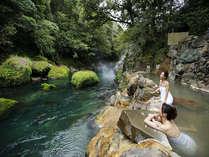 天降川渓谷の自然に癒されながら美肌湯を満喫♪