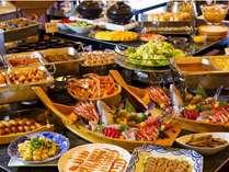 40品の味覚食べ放題☆ディナーブッフェ☆小学生半額☆揚げたて天ぷら&焼きたてお肉&ズワイ蟹食べ放題♪