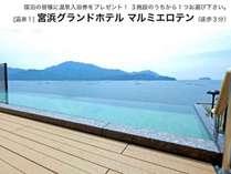 宮浜グランドホテルの温泉別名「マルミエロテン」 温泉入浴券をお使い頂く事が出来ます。