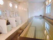 【光明石温泉大浴場】温泉の効能で疲れが取れます。朝風呂もご利用可能です※男女入替制