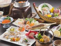 『じゃらん限定』ポイントUP!秋の味覚お部屋食プラン~秋刀魚のお造りや鮭イクラの釜飯をお楽しみください
