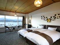 海音ベッドルーム(シングルベッド2台)10畳