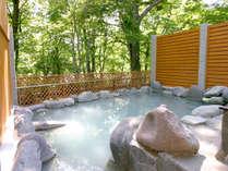 *【露天風呂】ホテル自慢の源泉かけ流し露天風呂。
