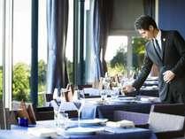 オーベルジュ滞在の最大の楽しみはお料理。素敵な時間をお過ごしください