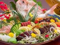 <お食事>夕食/南国土佐の郷土料理『皿鉢(さわち)料理』※一例