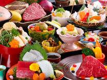 【基本会席】レストランゐきりで粋なご夕食★選べるメイン(牛or魚介)