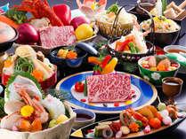 【特選会席】展望レストランゐきりで粋なご夕食★選べるメイン(牛ロースorロブスター)