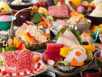 【早割30】展望レストランゐきりで粋なご夕食~メインの鉄板焼を牛or魚介からチョイス~
