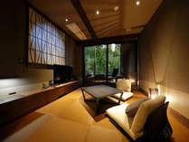 【真】箱庭露天風呂付コーナールーム客室