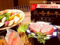 鉄板焼【桜橋】が長崎和牛指定店に認定されました。長崎和牛は、 赤身の脂身のバランスが絶妙です