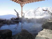 【空の湯ままらく】谷川連邦を望む最上階の展望浴場