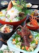 伊勢海老と地魚のプラン