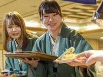 揚げたて天ぷらコーナー