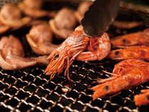 焼き立てをご提供、海鮮焼き