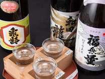 *利き酒プランイメージ/料理ごとに合うお酒を地酒を中心に利き酒師の料理長がセレクト