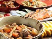 朝食は既製品を使わない手作り料理です。(和食+朝食のバイキング)